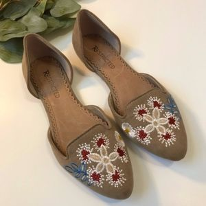 🔆 Restricted - Floral Embroidered Point Toe Flats